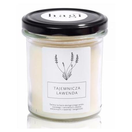 Sojowa świeca zapachowa TAJEMNICZA LAWENDA