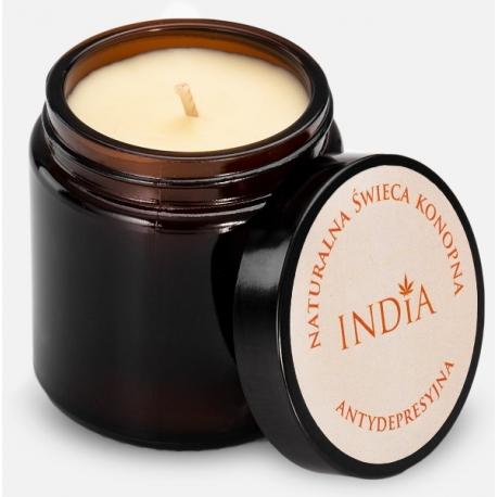 Antydepresyjna świeca konopna INDIA COSMETICS