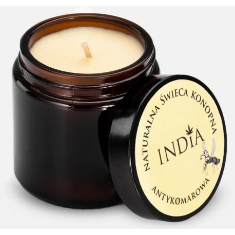 Antykomarowa świeca konopna INDIA COSMETICS